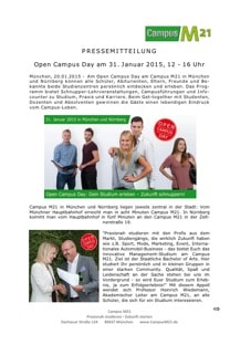 Open-Campus-Day Presse